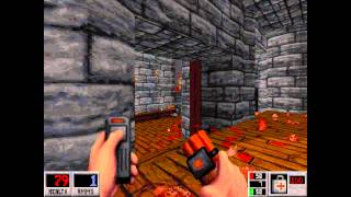 Blood (DOSBox) - E4M1 Butchery Loves Company - All Secrets - HD 720p
