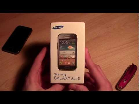 Samsung Galaxy Ace 2 ‒ Unboxing (GT-i8160 Onyx Black)