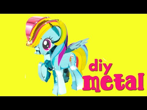 """My Little Pony How to Make 3D Metal Ponies """"Rainbow Dash"""" by Metal Earth"""