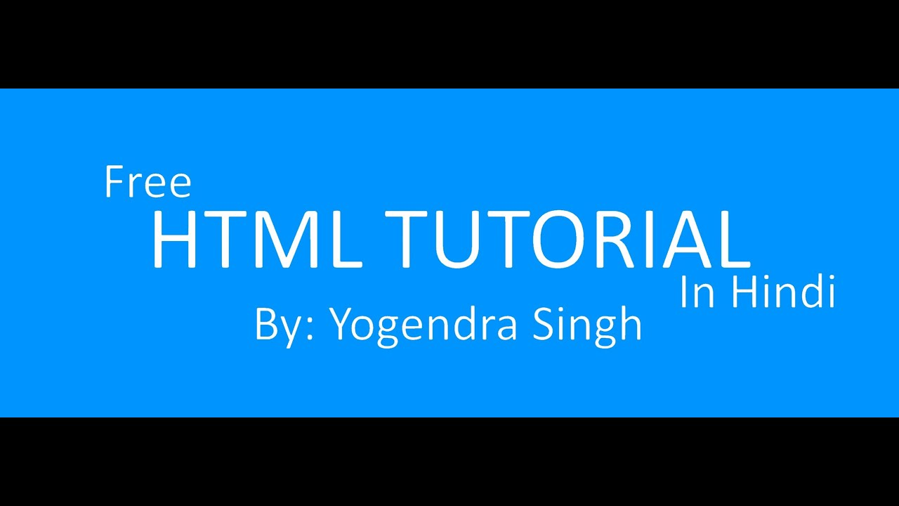 learn html 20 minutes