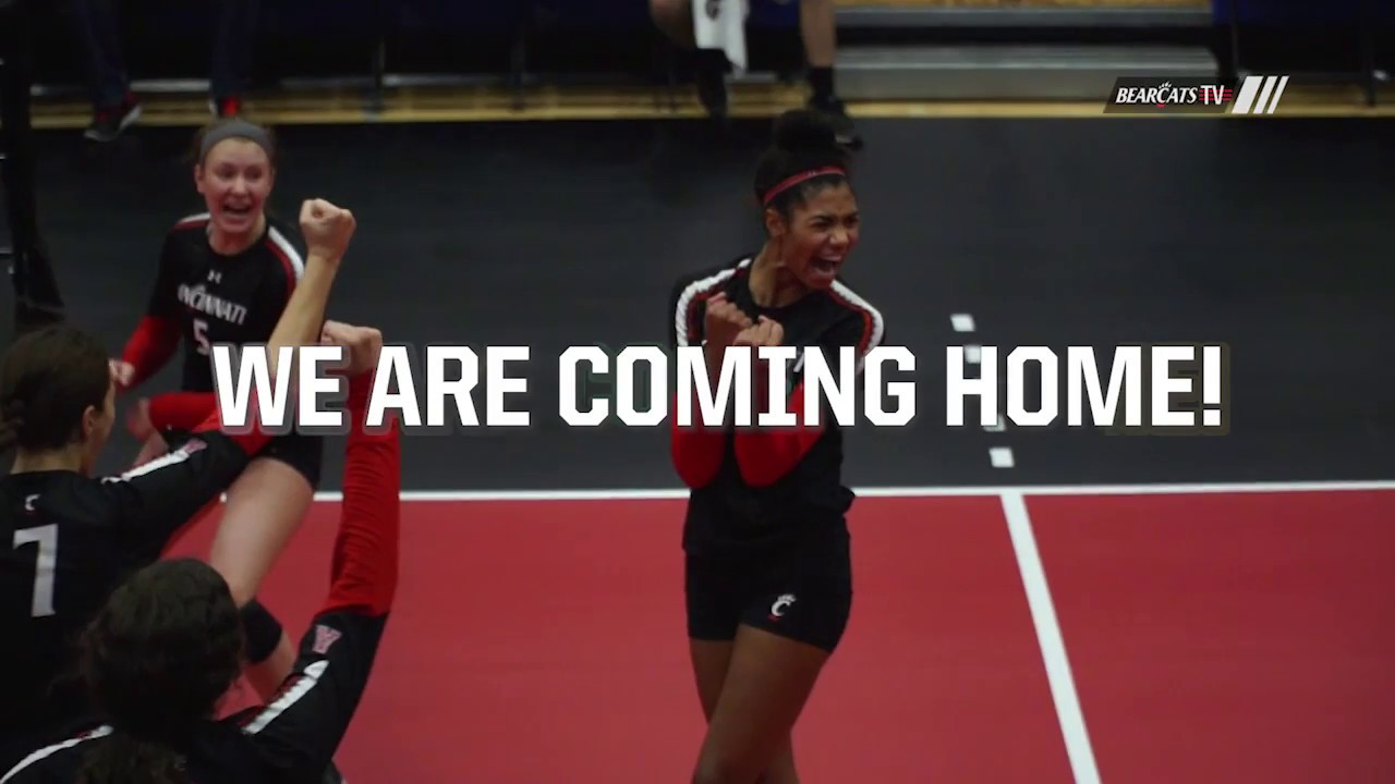 59de2633c Cincinnati Volleyball  Back Home! CincinnatiBearcats
