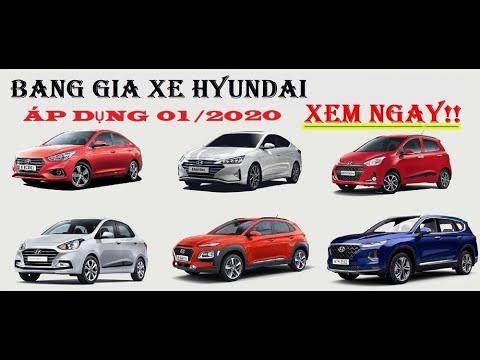 Bảng giá xe hyundai áp dụng tháng 01/2020 – chi tiết KM xin LH 0916614188