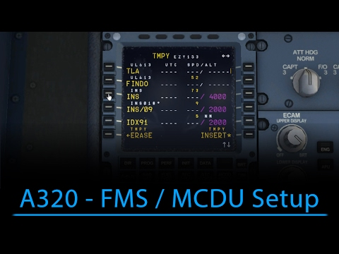 A320 FMS/MCDU Setup (FSX - Aerosoft A320)