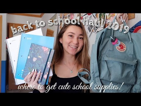 back to school haul 2019 (spring semester)