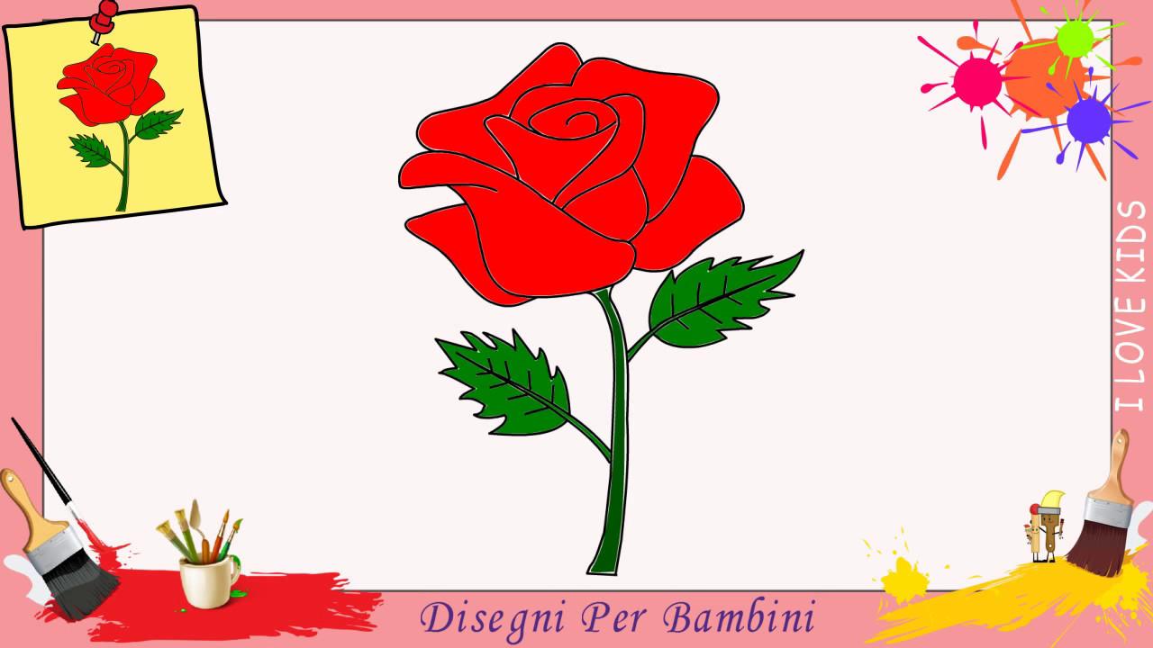 Disegni Di Rosa Come Disegnare Una Rosa Facile Passo Per Passo Per