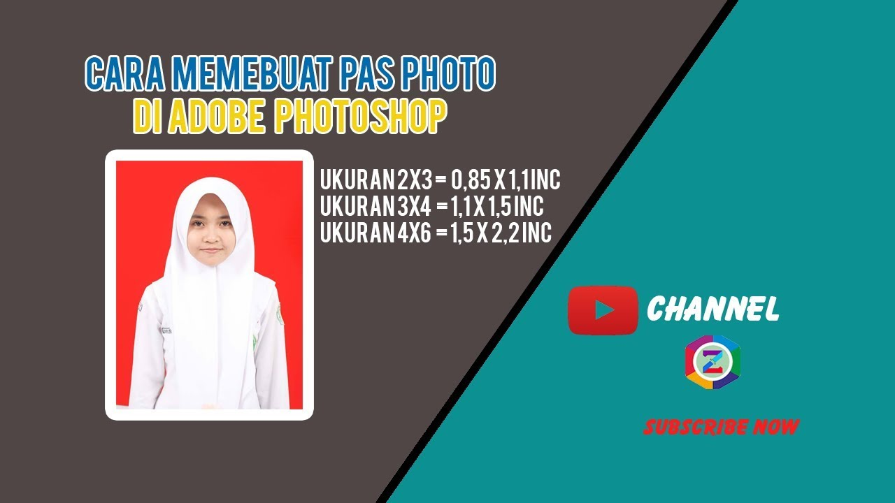 Cara Membuat Pas Photo Dalam Adobe Photoshop CC - YouTube