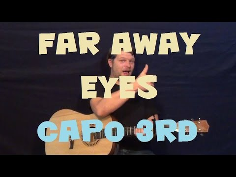Far Away Eyes (The Rolling Stones) Easy Strum Guitar Lesson Capo 3rd How to Play Tutorial