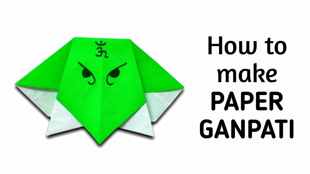 How To Make Simple Easy Paper Ganpati Ganesha Diy Paper Craft