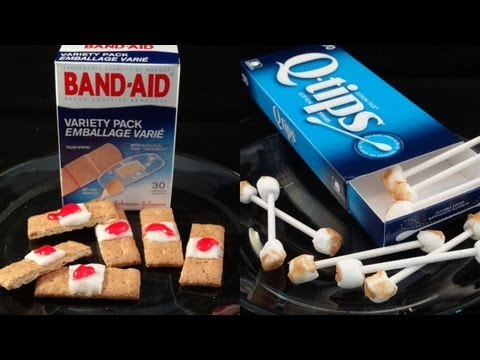 Used Cotton Swabs and Bandage Treats for Halloween