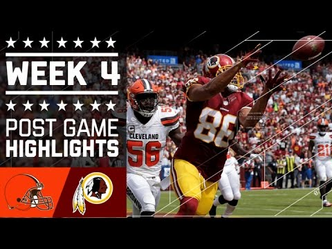 Browns vs. Redskins | NFL Week 4 Game Highlights