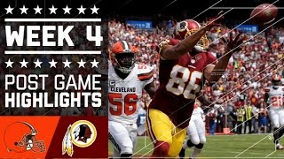 Browns vs. Redskins | NFL Week 4 Game Highlights