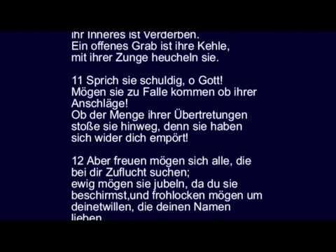 Psalm 5   Jahwe vernichtet die Lügner, segdie Frommen und