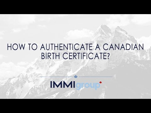 How to authenticate a Canadian birth certificate? - YouTube