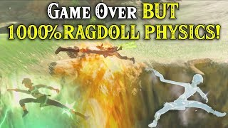 Game Over BUT 1000% RAGDOLL PHYSICS in Zelda Breath of the Wild