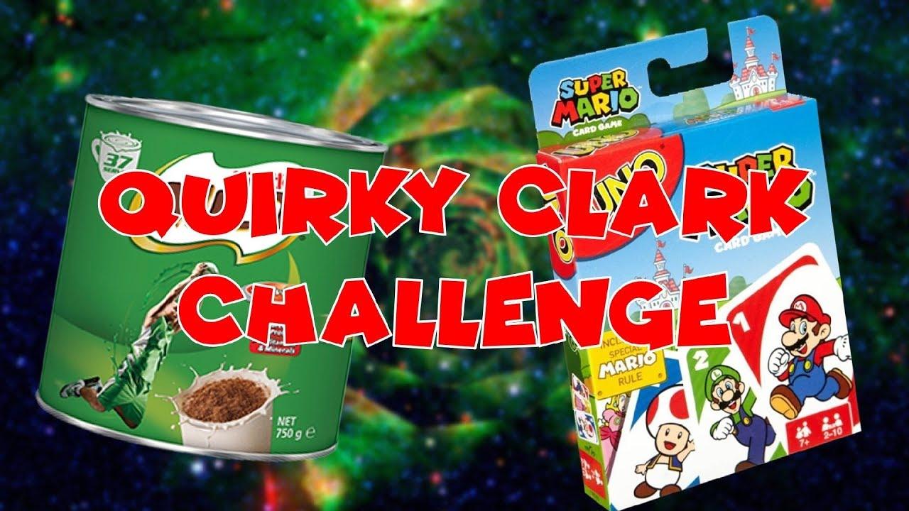 quirky clark challenge  super mario uno  youtube