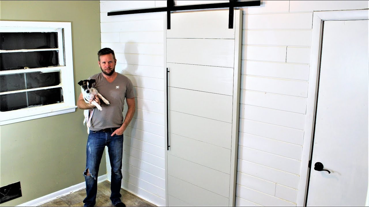 The 40 Modern Barn Door Easy Diy Project Youtube