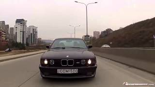 BMW E34 M5 Driving/Drifting in TBILISI streets