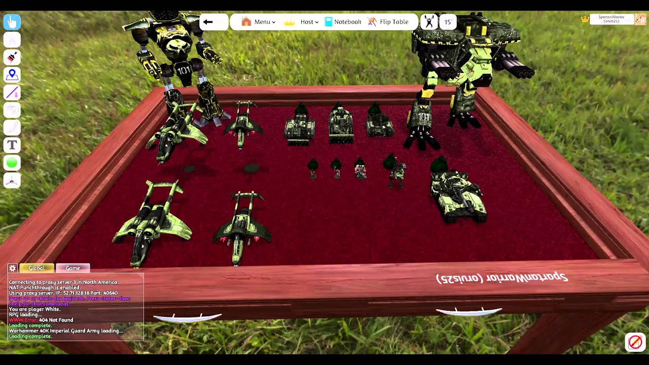 how to set up a warhammer 40k game on tabletop simulator tts