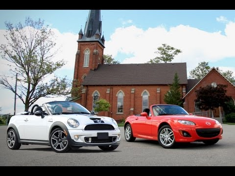 2012 Mazda MX5 Miata vs. 2013 MINI Roadster Cooper S