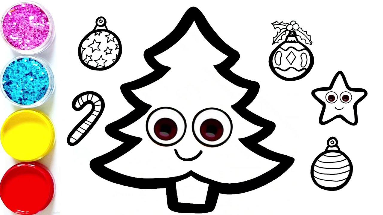 Menggambar Dan Mewarnai Ajaib Pohon Natal Dan Ornamen Untuk Anak Anak & Magic Christmas Tree ¬ë¦¬ìŠ¤ë§ˆìŠ¤