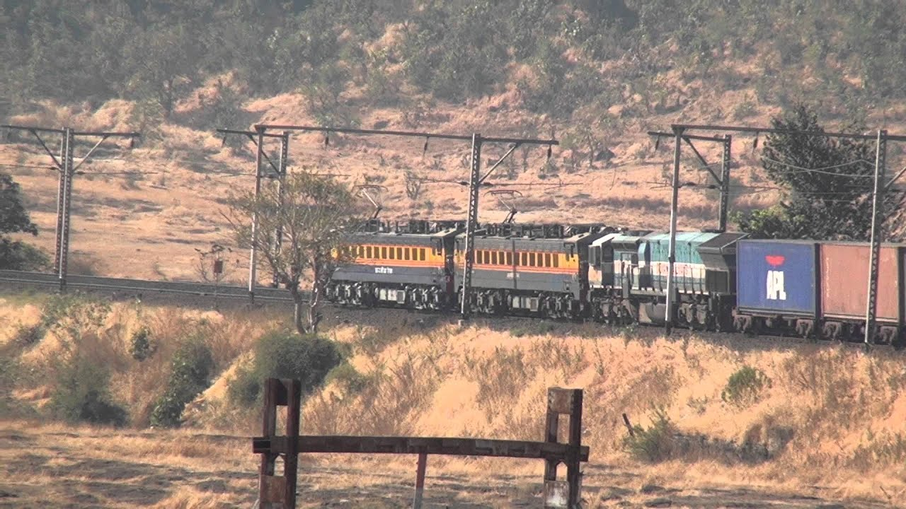 NON STOP CAPTURE OF PAWAN EXPRESS AND COLOURFUL FREIGHT TRAIN AT ... for Kasara Railway Station  585hul