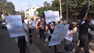 George Floyd killing: Nairobi residents protest police brutality at Us embassy