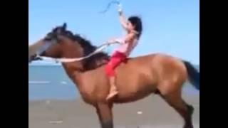 بنت تسوق حصان مشاءالله