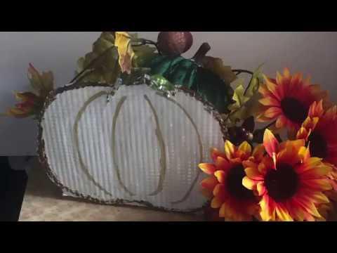 DollarTree DIY l Metal Pumpkin Basket l Harvest Fall l Farmhouse rustic l Crafts