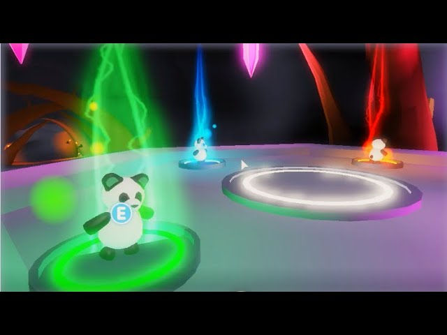 Neon Panda Omg I Made A Neon Panda In Adopt Me On Roblox Youtube