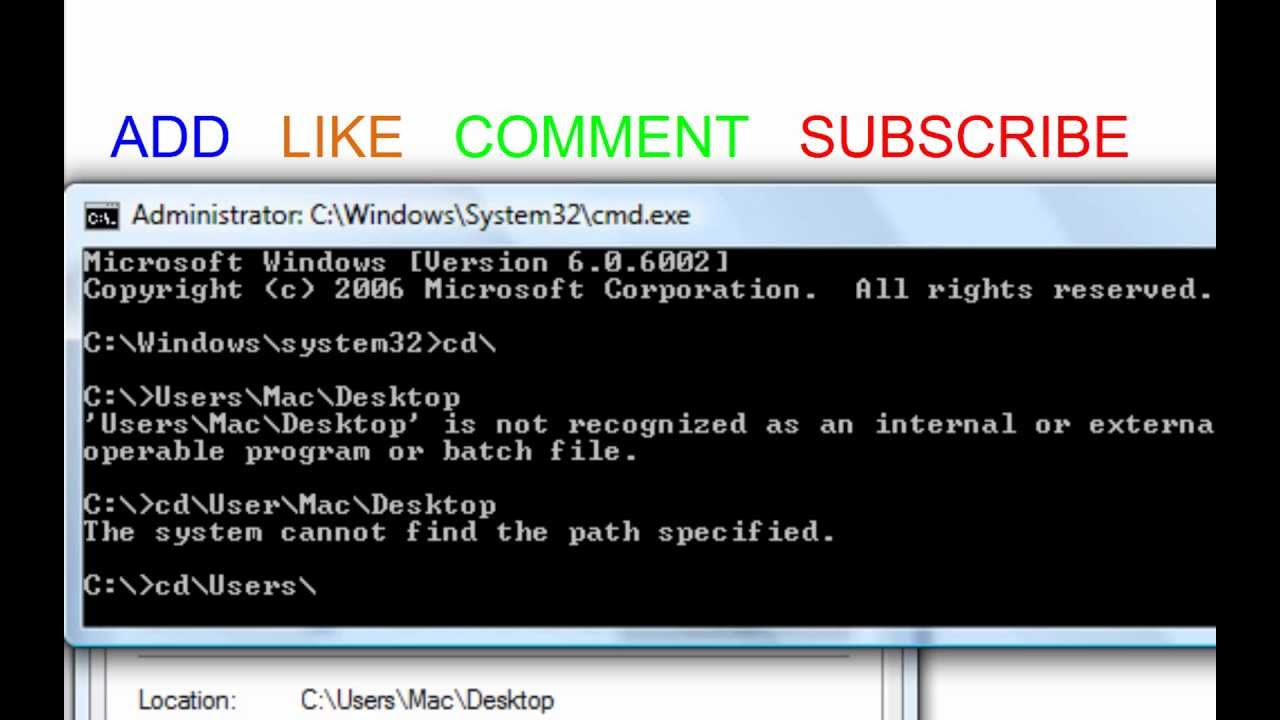 Command Prompt Tutorial 2013- Creating New Files
