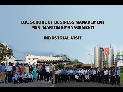 Industrial Visit - organised by B.K. SCHOOL OF BUSINESS MANAGEMENT MBA (Maritime Management)