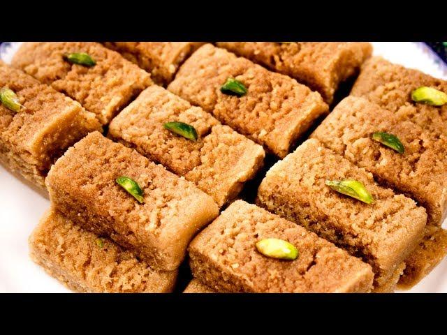 Milk Cake Recipe   Perfect Alwar Ka Mawa Halwai Style - CookingShooking