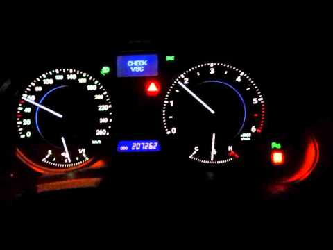 Горит VSC Lexus IS220D