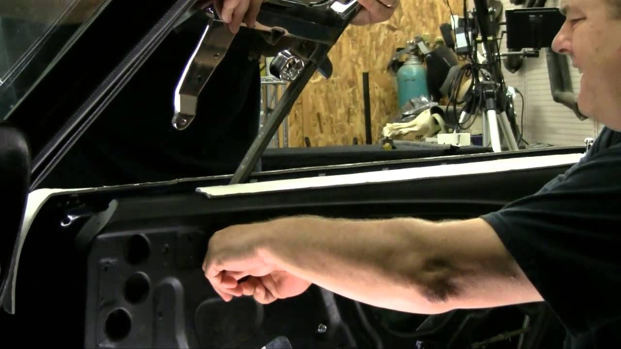 hight resolution of episode 90 door glass vent window install 1967 or 1968 mustang or cougar autorestomod youtube