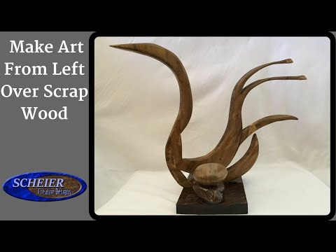 SWAN Scrap Wood Art aka (Water Turkey)  / Create, Woodworking, Diy