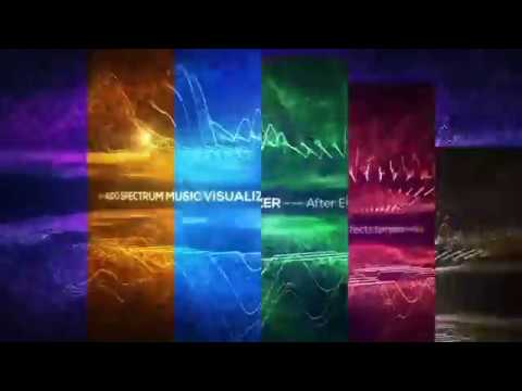 Free Audio Spectrum Music Visualizer Intro  After Effects | Download