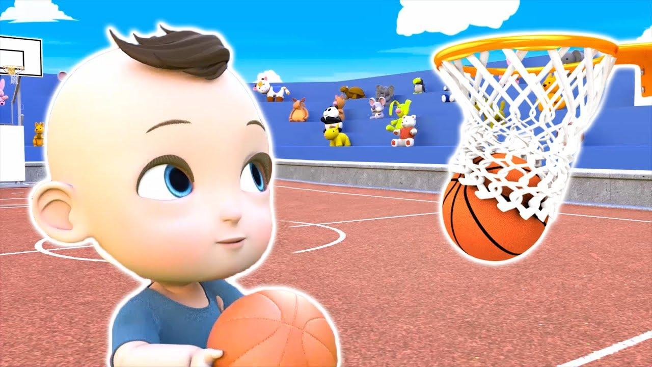 Baby Jake playing basketball Game - Fun Challenge - YouTube