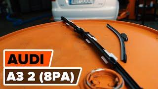 Montering Vindusviskere bak og foran AUDI A3 Sportback (8PA): gratis video