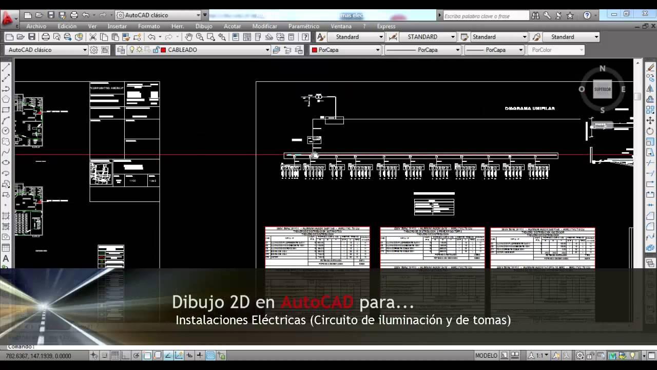 Cursos de AutoCAD aplicado Instalaciones Electricas  YouTube