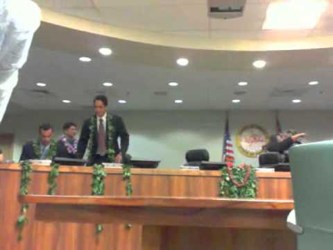Hawaii County Council 1st session New Council part 4 of 4