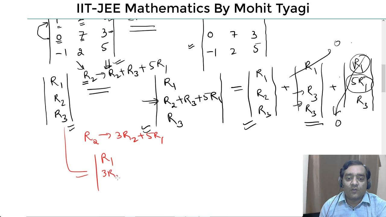 6-Determinants-Properties-IIT JEE Maths free online video lectures ...
