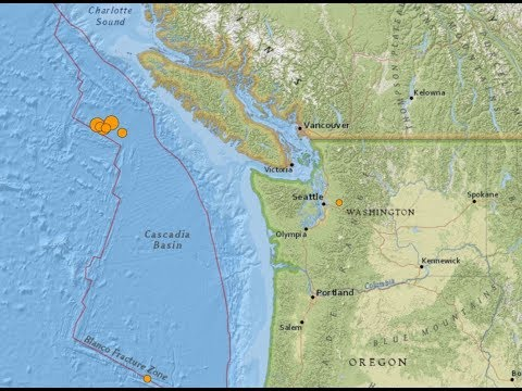 Three Powerful Earthquakes strike off Vancouver island. 10/22/2018