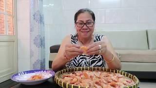 Vlog ăn vặt 6 ll Mẹ Làm Tôm Khô