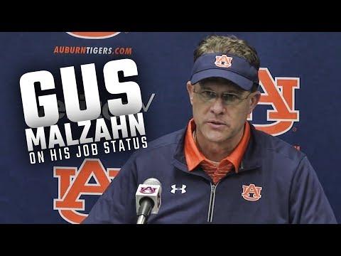 An annoyed Gus Malzahn answers question regarding his job status at Auburn