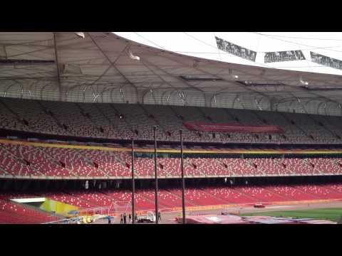 The Olympic National Stadium aka Birds Nest in Beijing, China