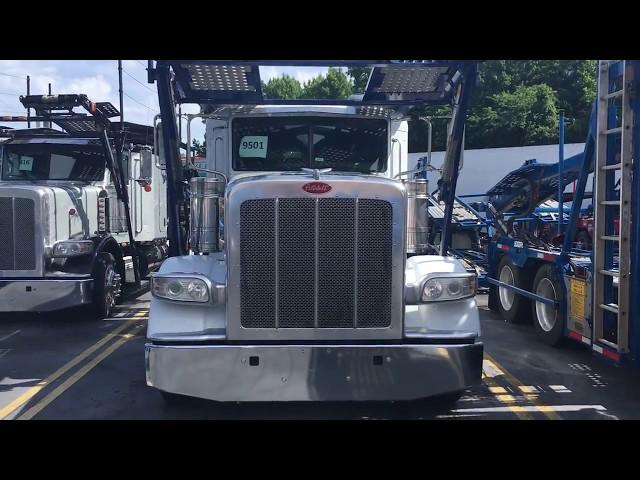 2014 White Peterbilt 388 & 2014 Cottrell CX-09LS3 Car Hauler Trailer