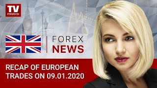 InstaForex tv news: 09.01.2020: Middle East conflict fears ease. Outlook for EUR/USD, GBP/USD, and GOLD.