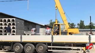 №7 Погрузка изделий ЖБИ кольца, лотки(Видео погрузки изделий ЖБИ на заводе ЖБИ-11 (http://gbi11.ru), 2015-08-13T16:04:24.000Z)
