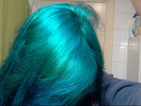 how to dye your hair blueturquoiseesmerald green youtube
