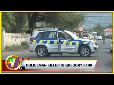 Policeman Killed in Gregory Park, St Catherine Jamaica   TVJ News
